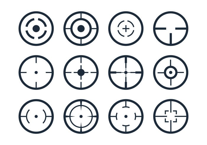 Crosshair Viewfinder Vector Icons