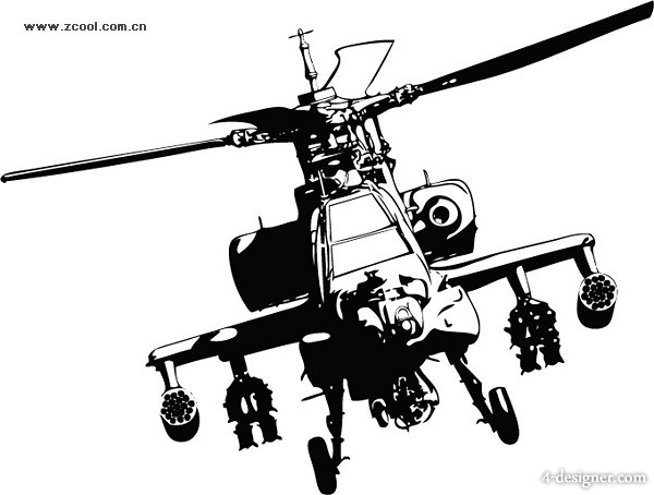 Apache helicopters Vector