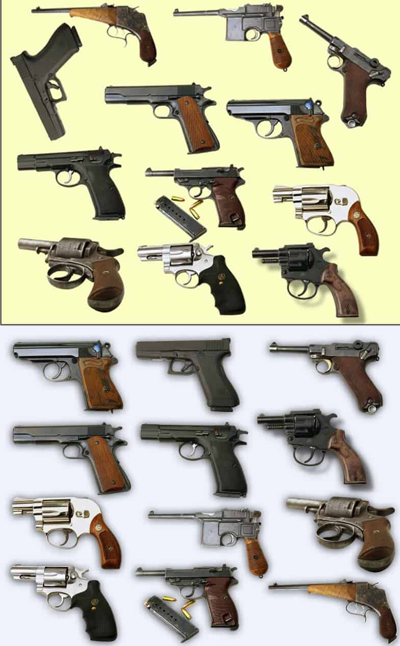 Pistol PSD layered images