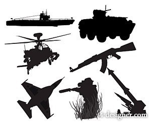 The military weapons Silhouette series of vector material
