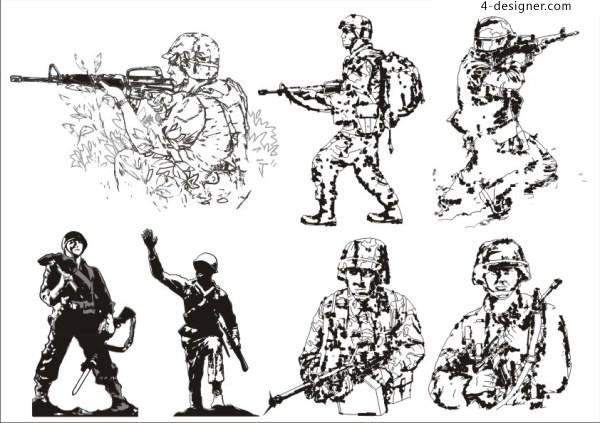 Warrior vector material