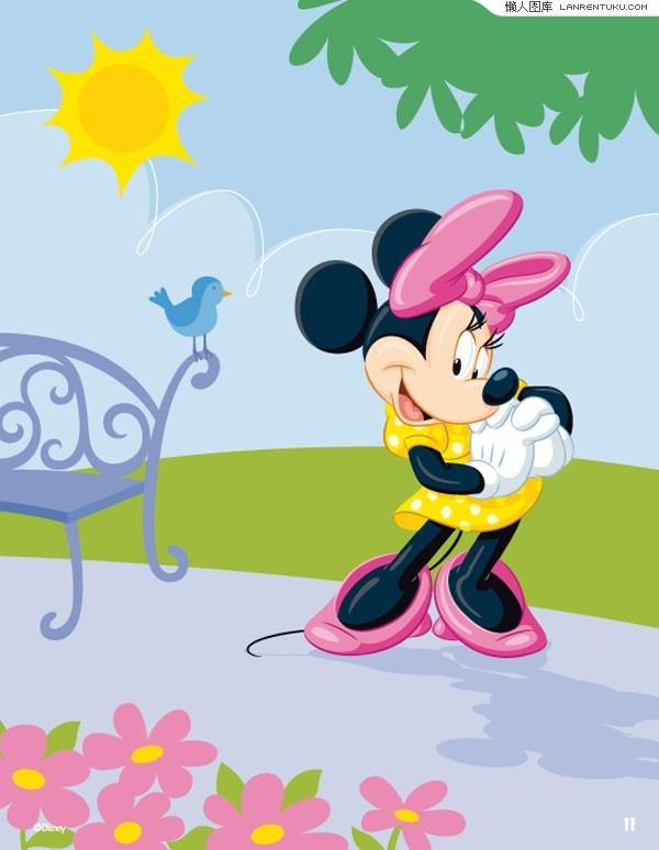 Disney cartoon cute Minnie vector material