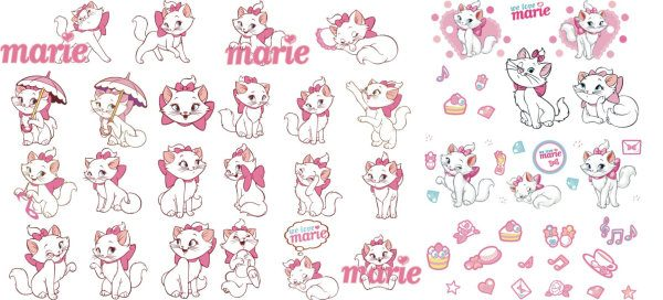 Disney Marie cat vector material