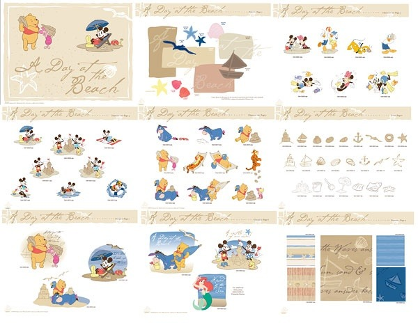 Disney style vector material