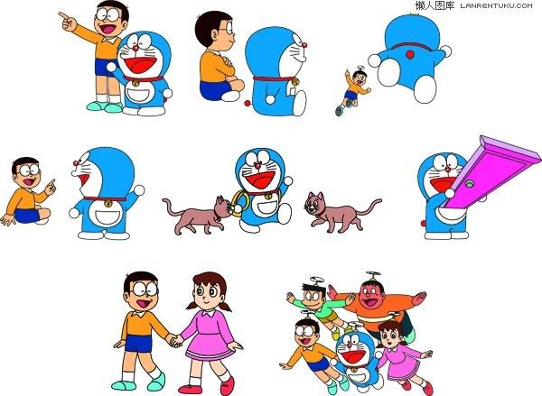 Doraemon cartoon vector material