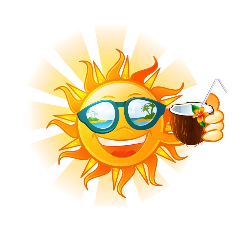Drink coconut sun vector