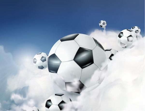 Dynamic cloud soccer background