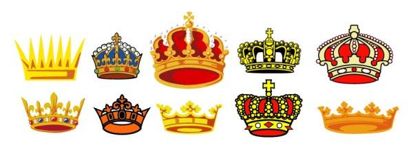 Exquisite crown vector material