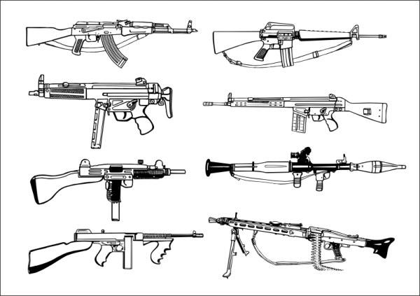 Firearms vector material