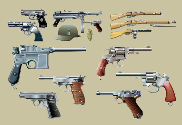 Firearms vector material