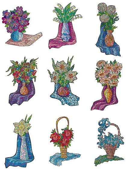 Flower Vector illustration style, material -1