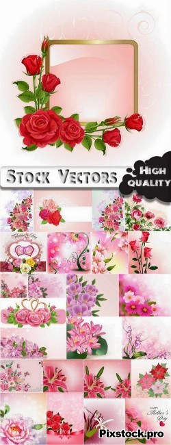 Flowers and Backgrounds – 19 Eps – 3Ai – 3 Svg