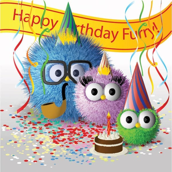 Funny cute fur ball family of vector material
