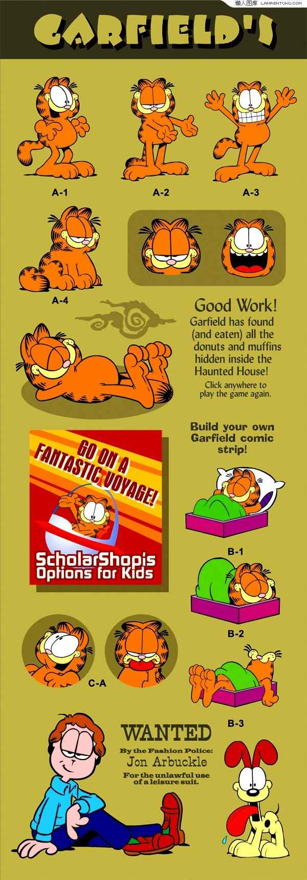 Garfield cartoon vector material