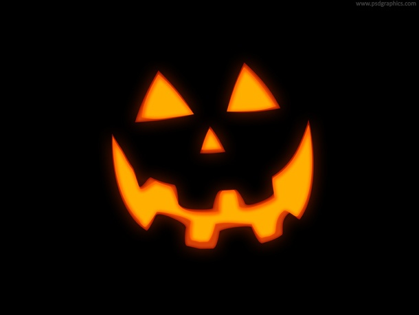 Glowing Jack O' Lantern pumpkin