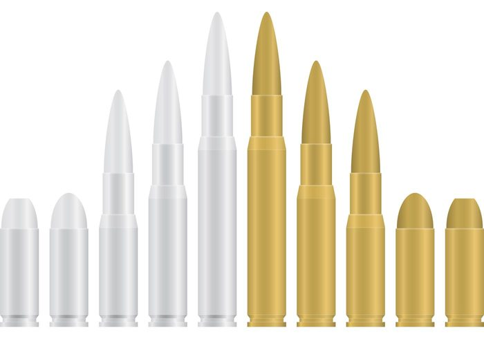 Gold and Silver Bullets – Download Free Vector Art, Stock Graphics & Images
