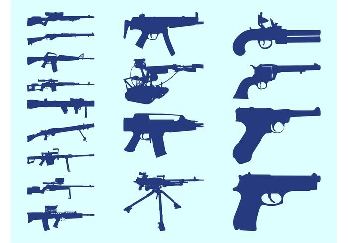 Gun Silhouettes Set
