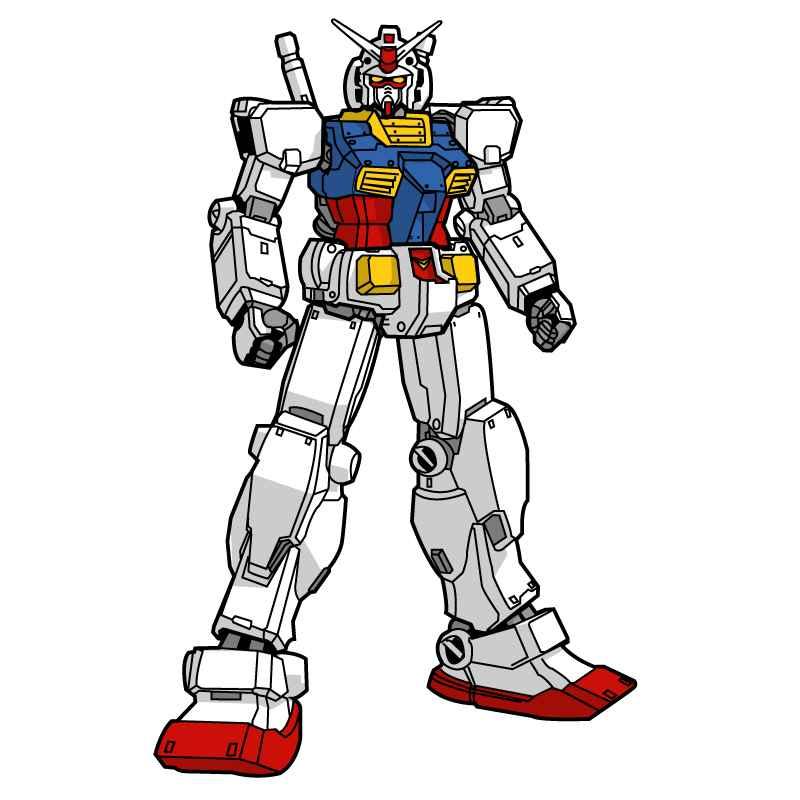 Gundam robot cartoon vector material