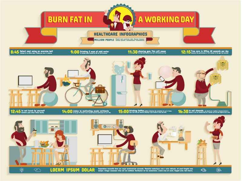 Health Information working map vector material