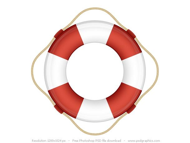 Help icon, PSD life belt