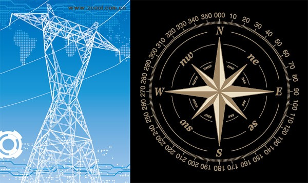 High-voltage wire frame and the compass vector material