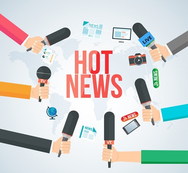 Hot News illustrator vector graphics