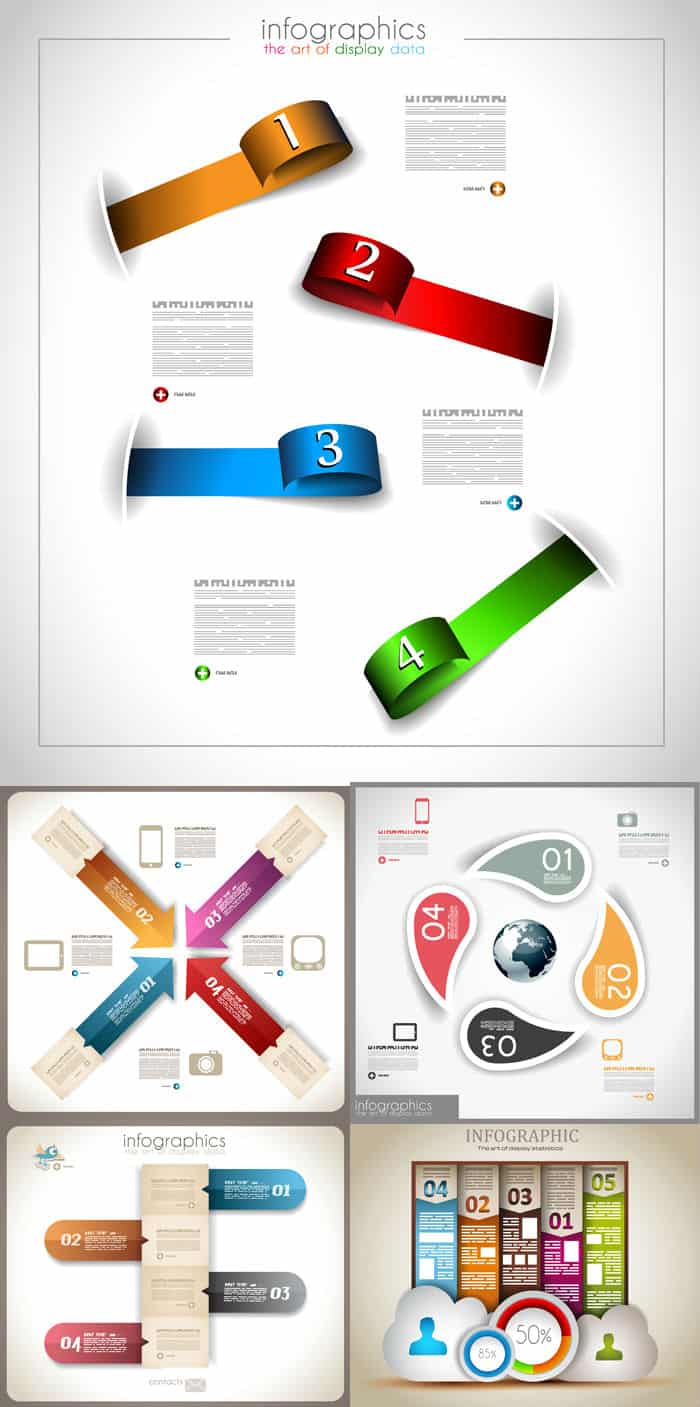 Infographic design elements vector material