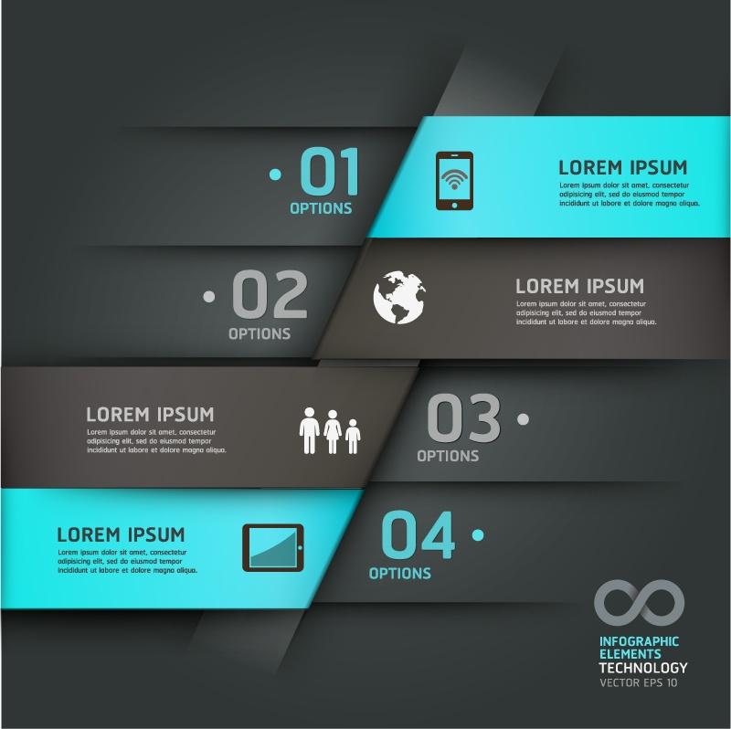 Infographic vector material exquisite creative advertising design