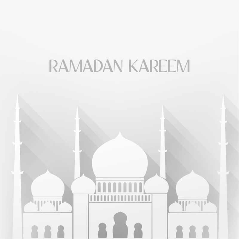 Islamic mosque white background vector material landscape architecture