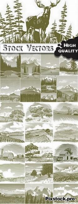 Landscape set #4 – 25 Eps