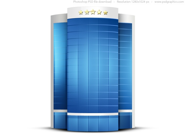 Luxury hotel building icon (PSD)