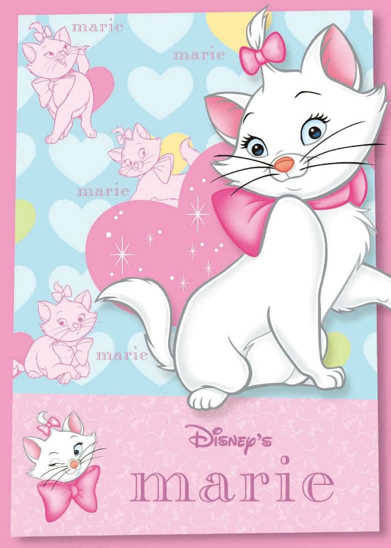 Mary cartoon cat Vector cartoon background