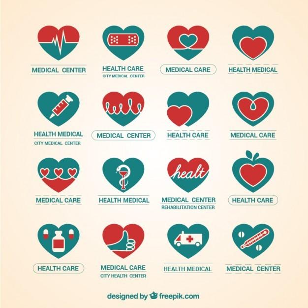 Medical center logo pack