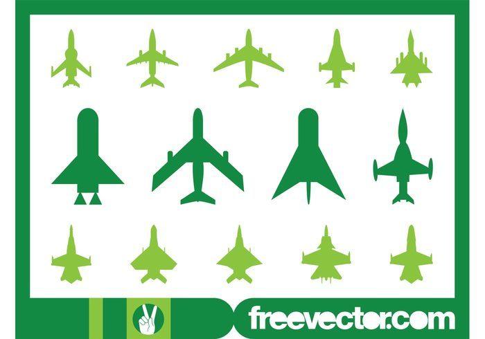 Military Planes Icons