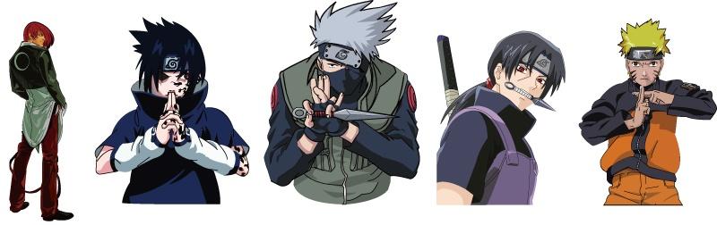 Naruto KOF character design vector material