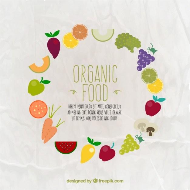 Organic food frame