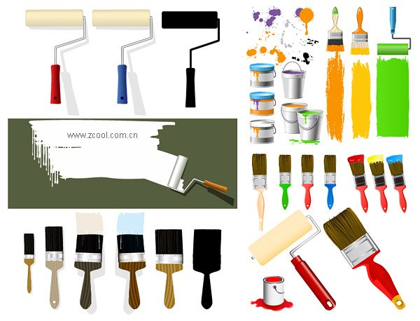 Paint brush Paint brush Paint Vector material
