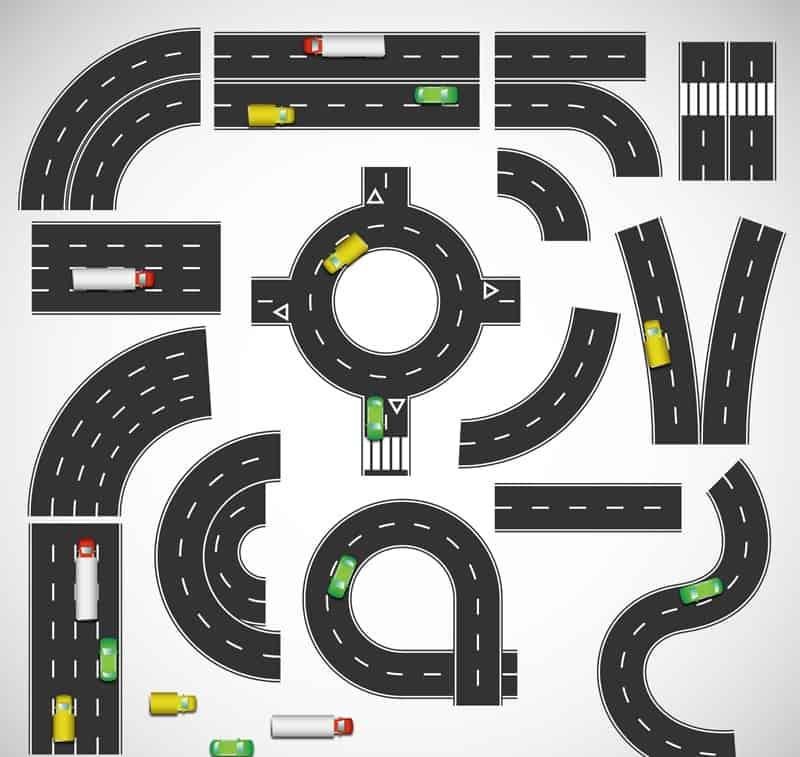 road design vector material