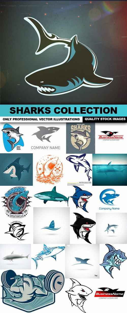 Sharks Collection – 25 Vector