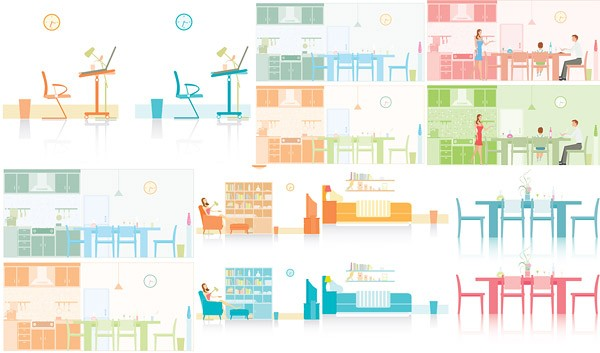 7 Simple vector illustration household material
