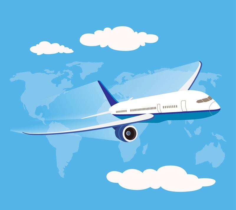 Sky aviation aircraft vector material _
