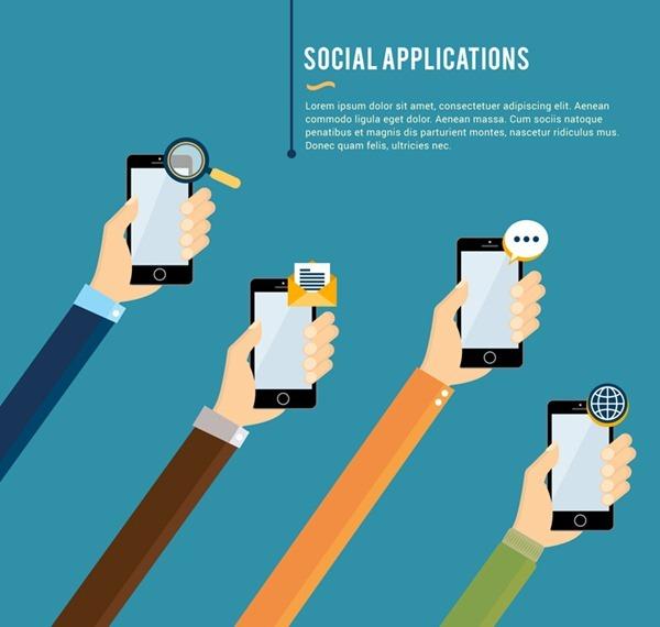 Social life applications illustrator