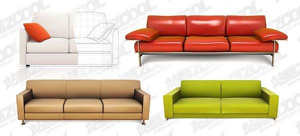 4 sofa vector realistic material