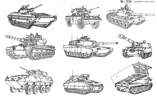 Tanks and soldiers