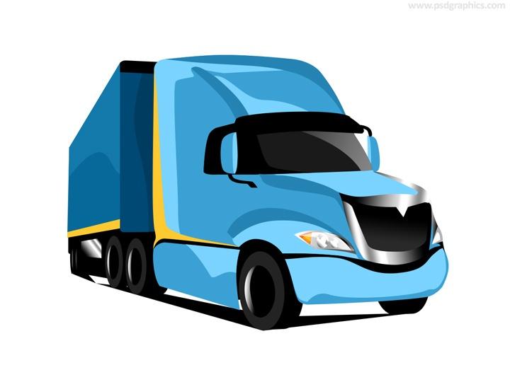 Truck transportation icon (PSD)