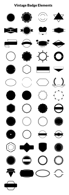 Vintage Logos, Badges, Insignias Kit – Vol.1 – GraphicsFuel