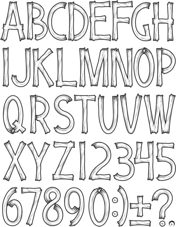 White wood letters