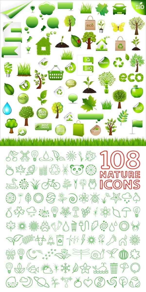 environmental protection, green related vector material