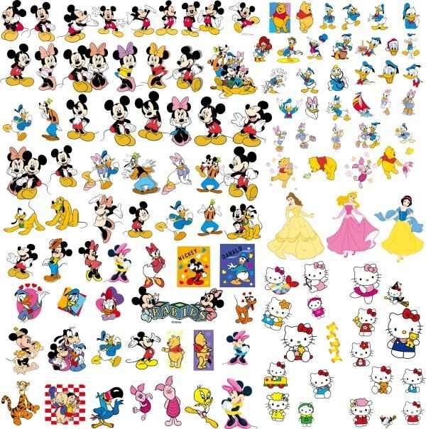 Disney Cartoon Vector material set