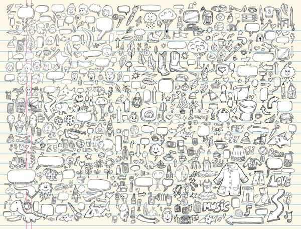 Cartoon pencil 03– vector material